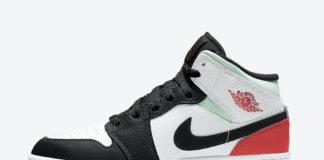 Air Jordan 1 Mid GS Black Toe Green Orange BQ6931-100 Release Date Info