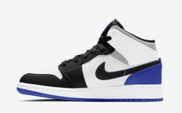 Air Jordan 1 Mid GS Blue Black White Grey BQ6931-102 Release Date Info
