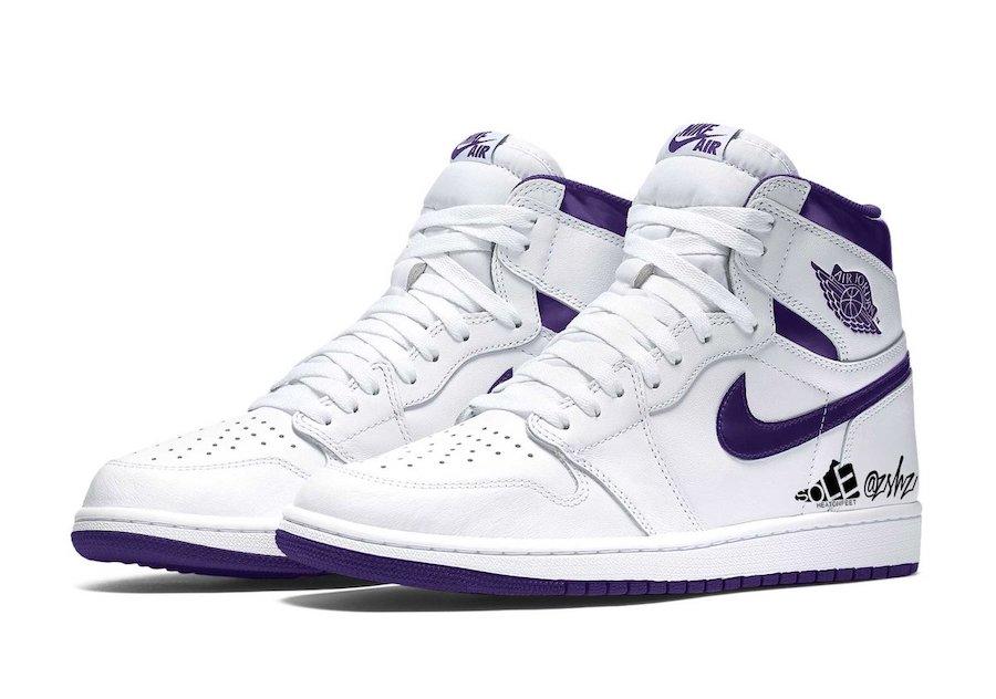Air Jordan 1 WMNS White Court Purple CD0461-151 2021 Release Date Info