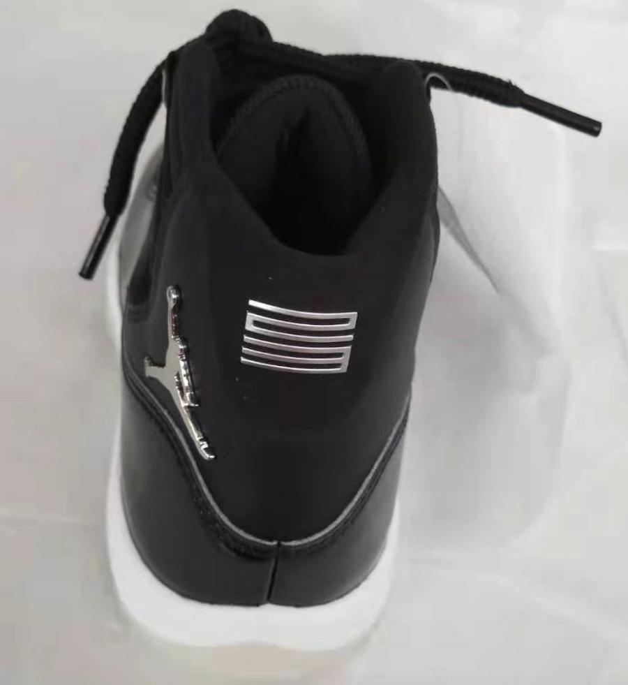 Air Jordan 11 25th Anniversary Black Clear Silver Eyelets CT8012-011 Heel