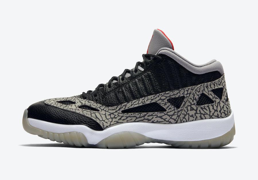 Air Jordan 11 Low IE Black Cement 919712-006 Release Info