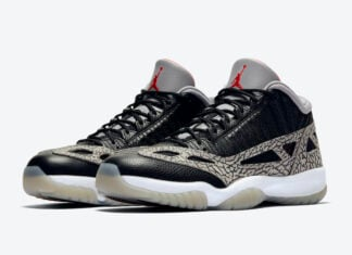 Air Jordan 11 Low IE Black Cement 919712-006 Release Info