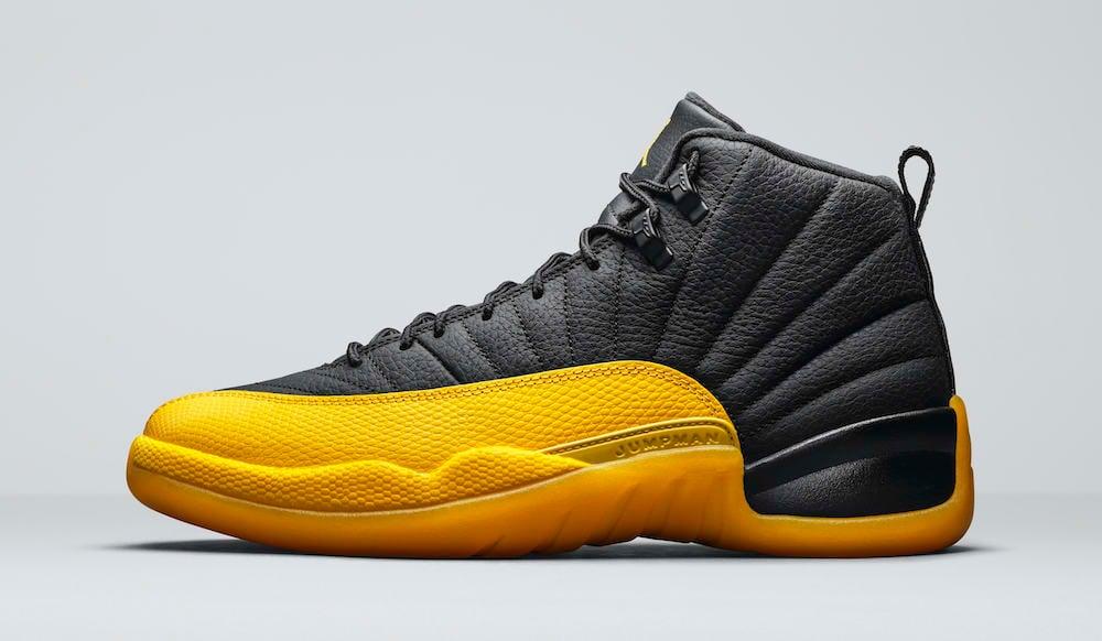 Air Jordan 12 Black Yellow 130690-070 Release Date