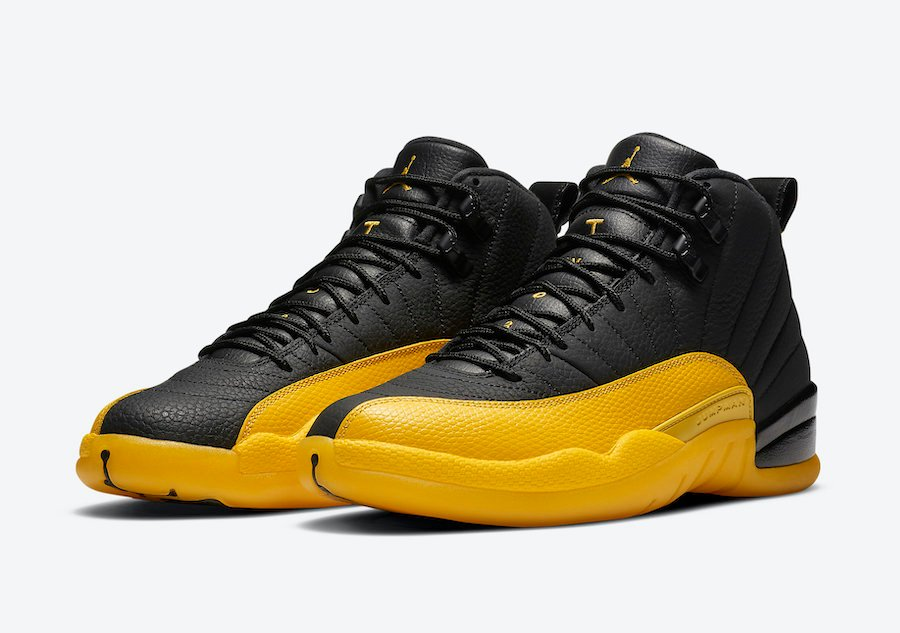 Air Jordan 12 Black University Gold