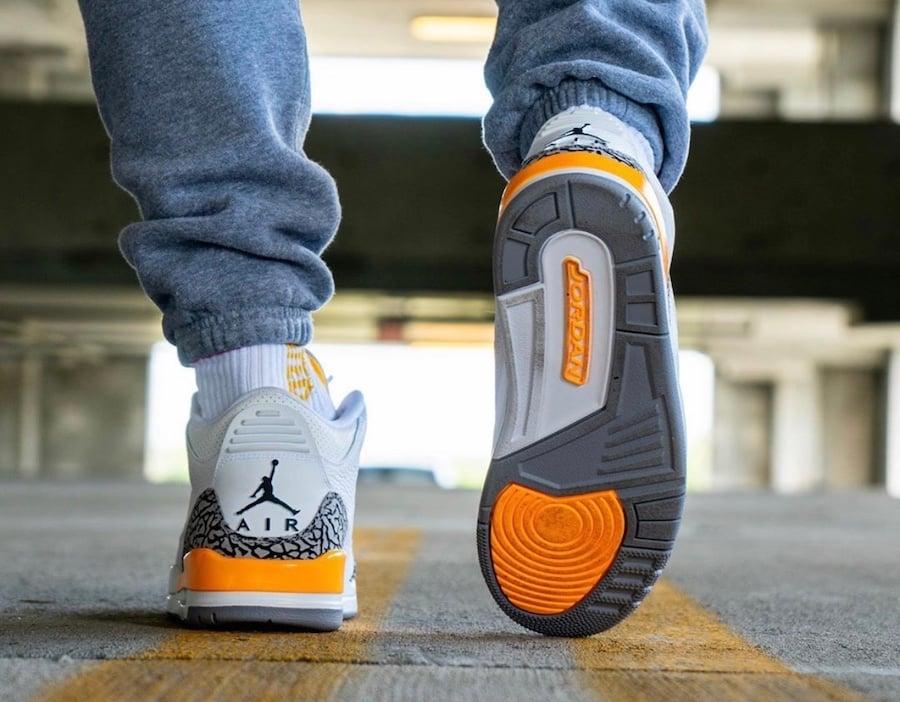 Air Jordan 3 Laser Orange CK9246-108 On Feet