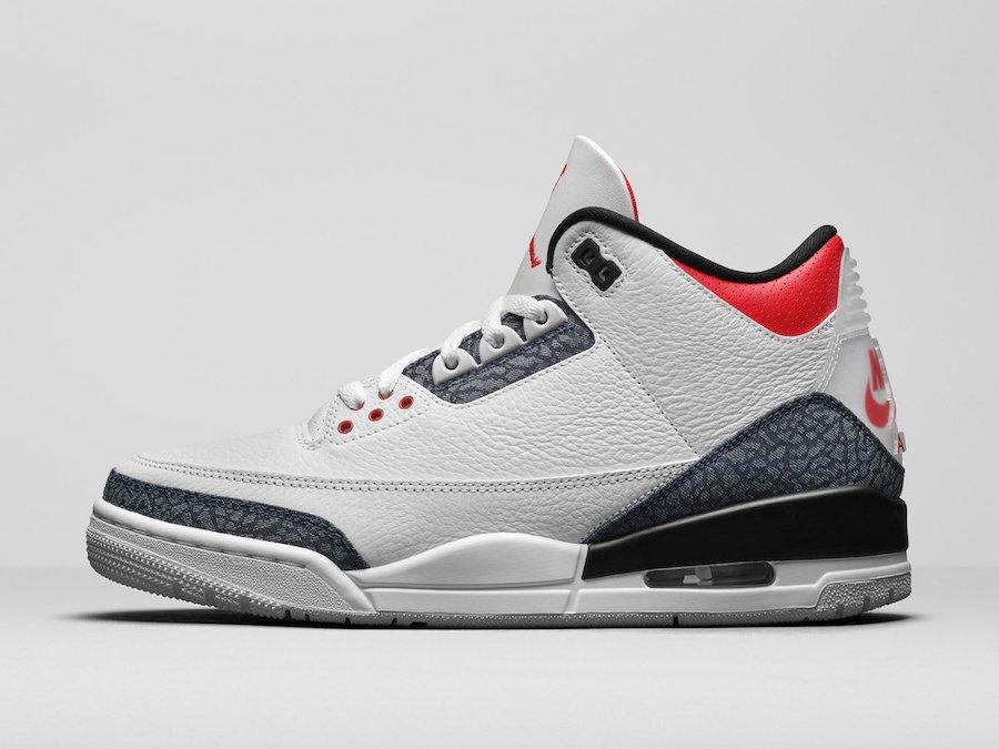 Air Jordan 3 SE Denim Fire Red CZ6431-100 Release Date