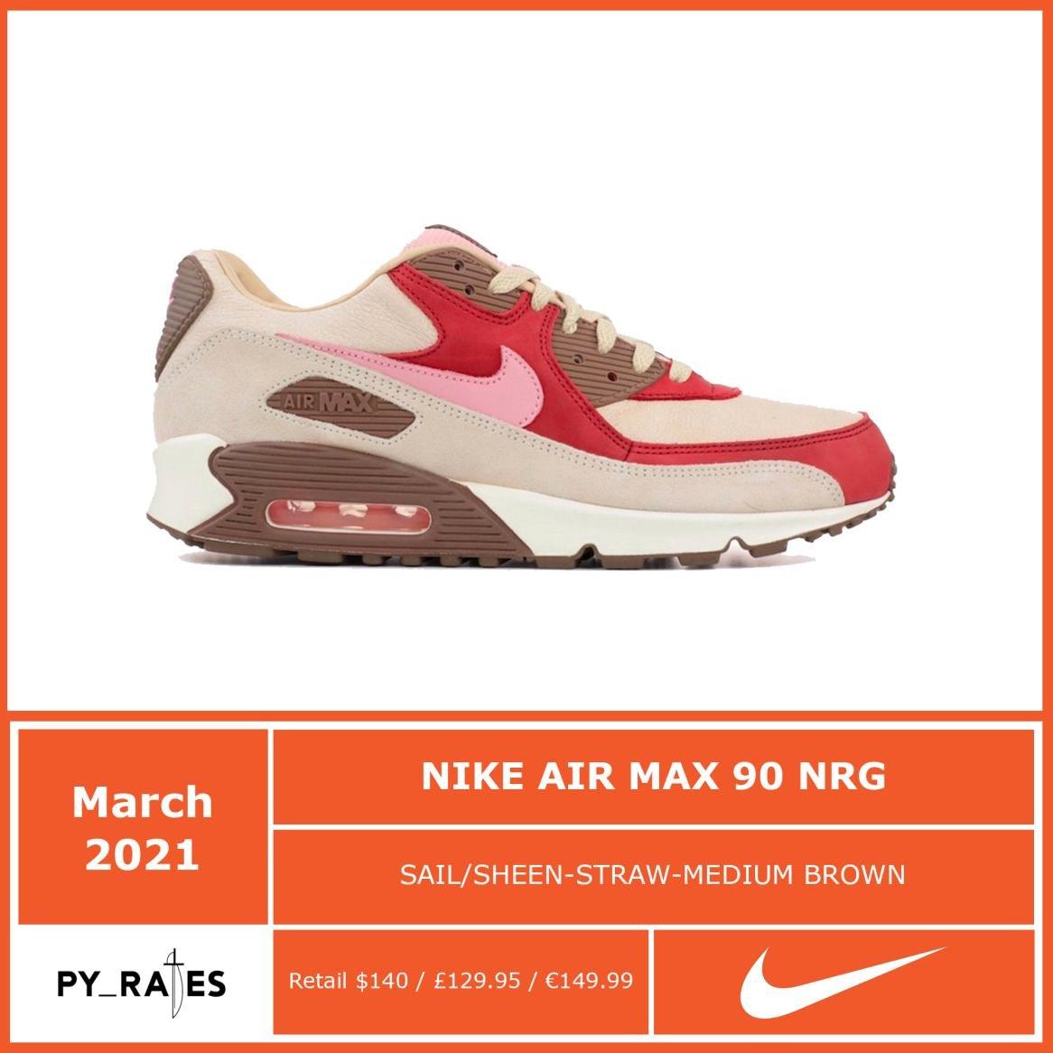 DQM Nike Air Max 90 Bacon CU1816-100 2021 Release Details