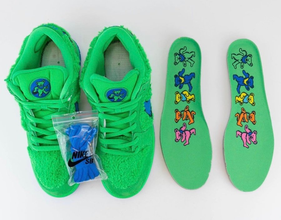 Grateful Dead Nike SB Dunk Low Green Bear CJ5378-300 Release