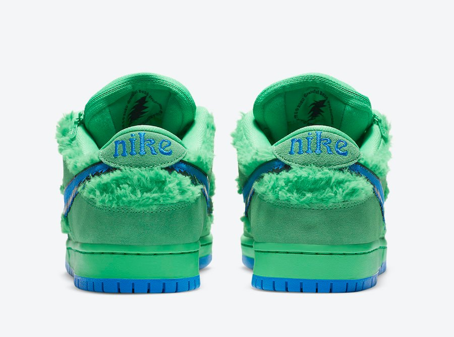 Grateful Dead Nike SB Dunk Low Green Bear CJ5378-300 Release Info