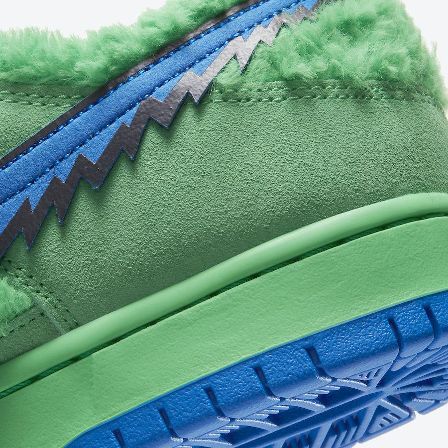 Grateful Dead Nike SB Dunk Low Green Bear CJ5378-300 Release Info