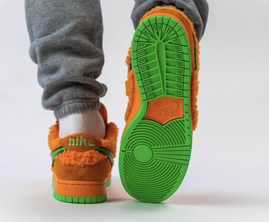 Grateful Dead Nike SB Dunk Low Orange Bear CJ5378-800 On Feet