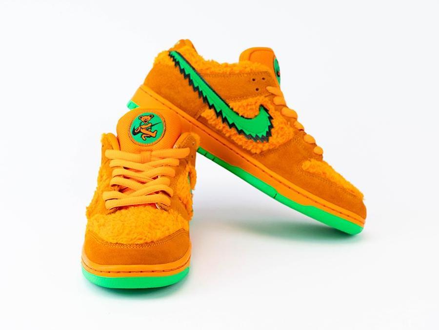 Grateful Dead Nike SB Dunk Low Orange Bear CJ5378-800 Release Info