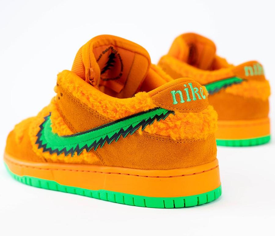 Grateful Dead Nike SB Dunk Low Orange Bear CJ5378-800 Release Info