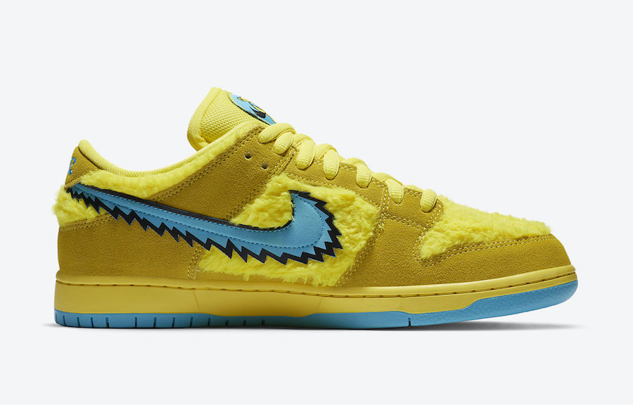 Grateful Dead Nike SB Dunk Low Yellow Bear CJ5378-700 Release Info