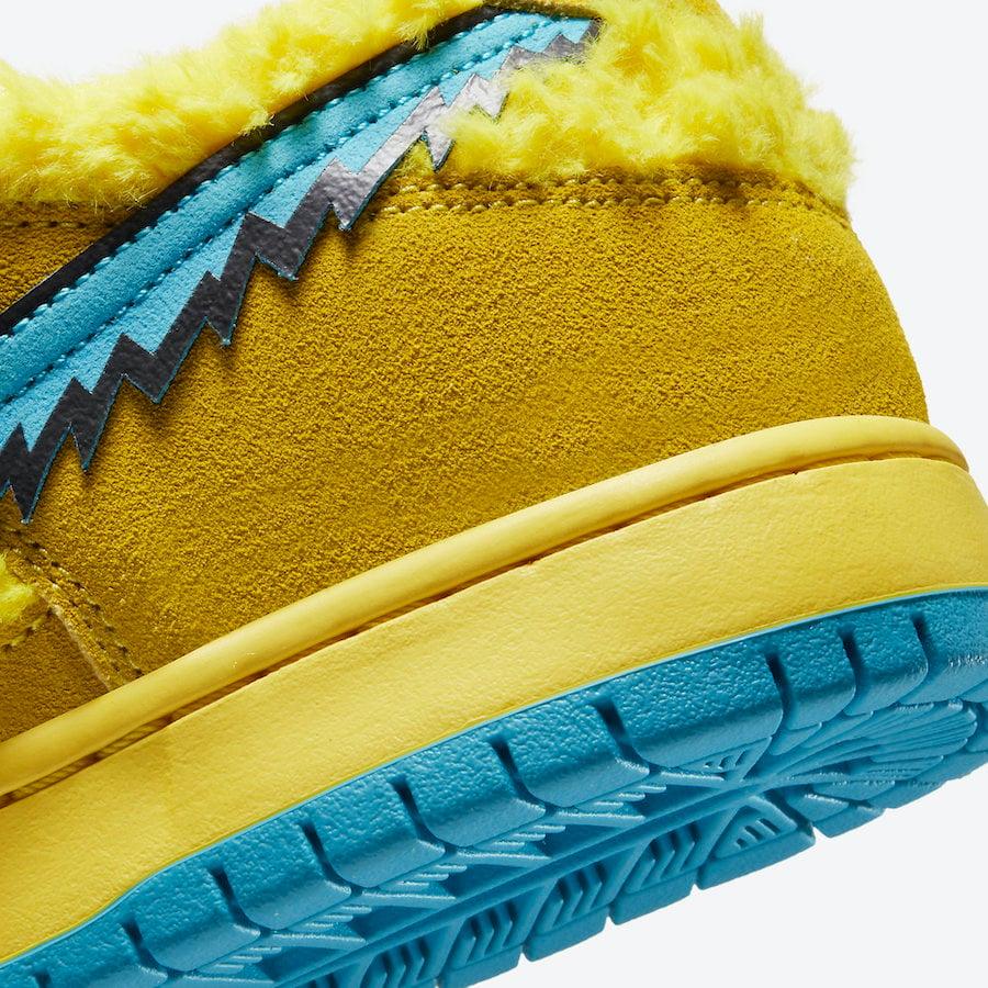Grateful Dead Nike SB Dunk Low Yellow Bear CJ5378-700 Release Info
