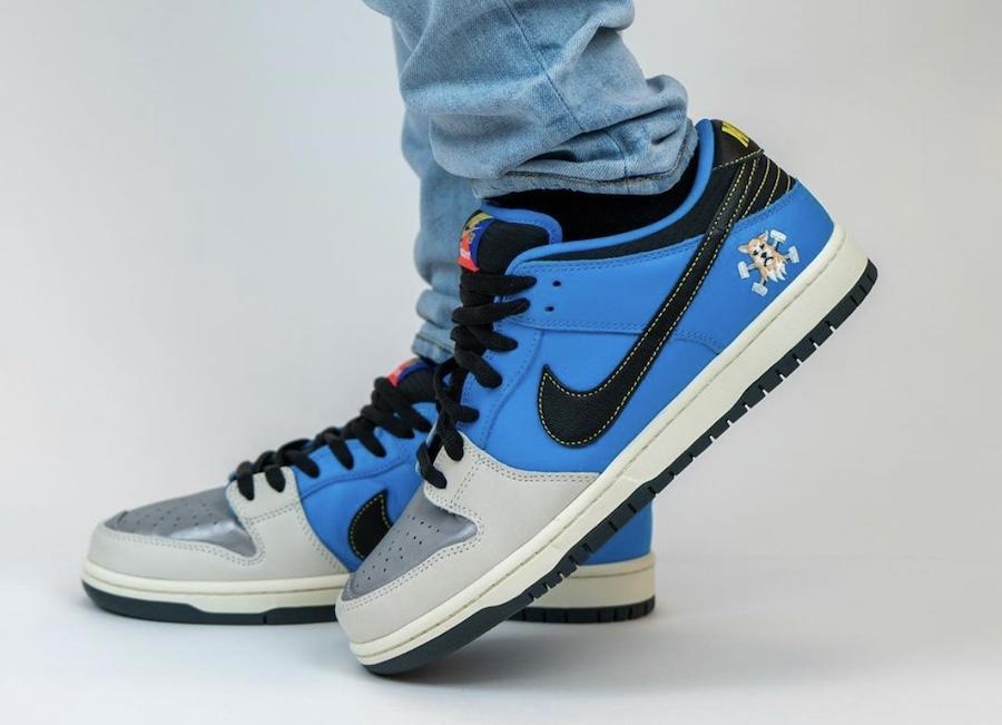 Instant Skateboards Nike SB Dunk Low On Feet