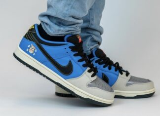 Instant Skateboards Nike SB Dunk Low On Feet