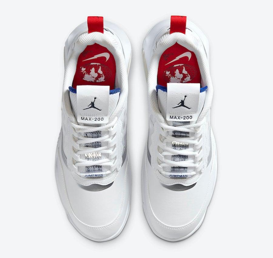 Jordan Air Max 200 White Red Blue CW7590-100 Release Date Info