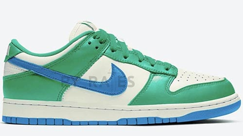 Kasina Nike Dunk Low Sail White Neptune Green Industrial Blue Release Date