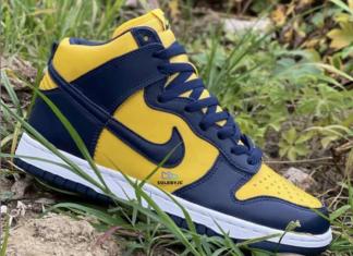 Michigan Nike Dunk High 2020 CZ8149-700 Release Date