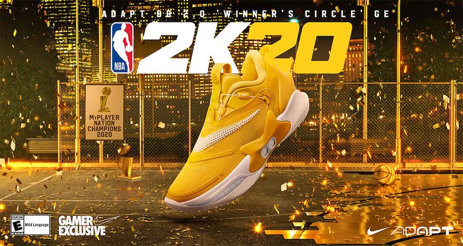 NBA 2K20 Nike Adapt BB 2.0 GE Winners Circle Release Date Info