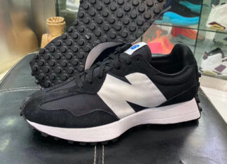 New Balance 327 Black White