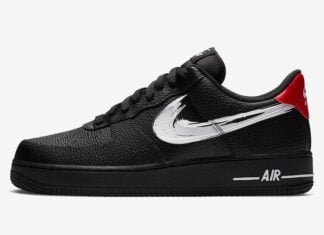 Nike Air Force 1 Low Brushstroke Swoosh Black DA4657-001 Release Date Info