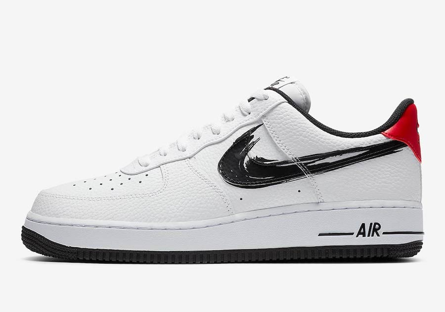 Nike Air Force 1 Low Brushstroke Swoosh White DA4657-100 Release Date Info