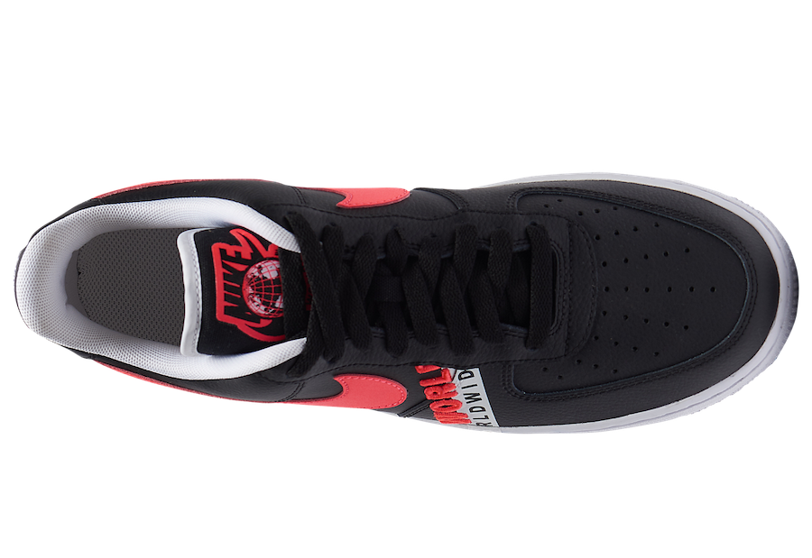 Nike Air Force 1 Low Worldwide Black Crimson CK6924-001 Release Date Info