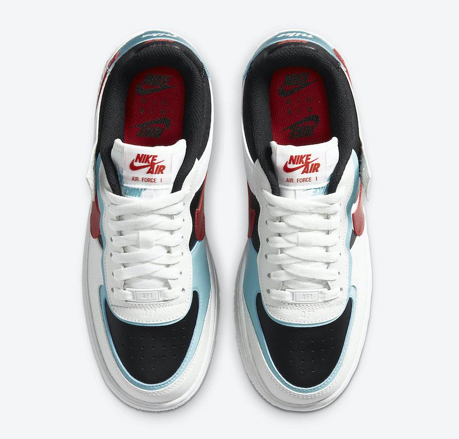 Nike Air Force 1 Shadow Bleached Aqua DA4291-100 Release Date Info