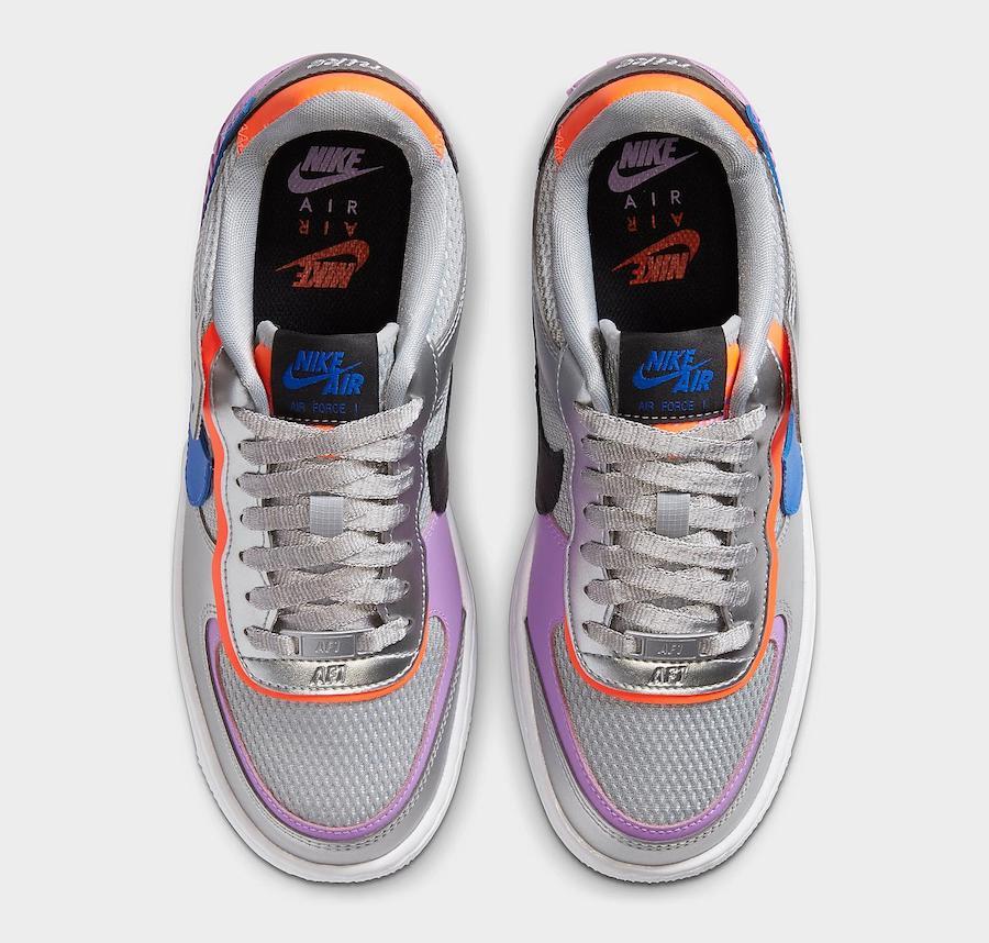 Nike Air Force 1 Shadow Metallic Silver Fuchsia Glow CW6030-001 Release Date Info
