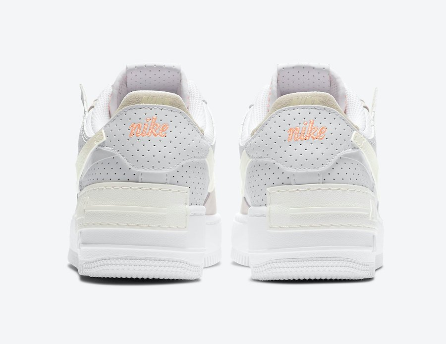Nike Air Force 1 Shadow White Atomic Pink Sail CZ8107-100 Release Date Info