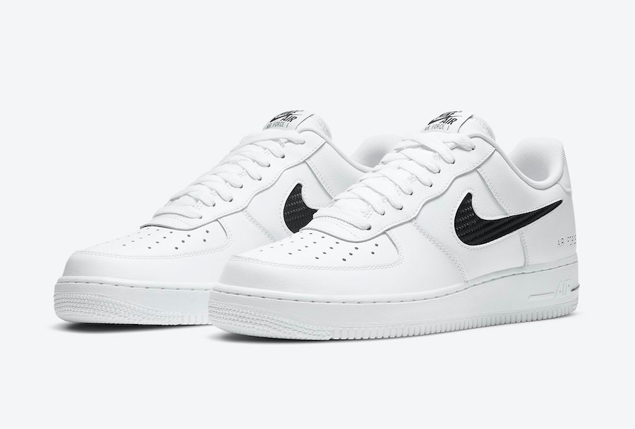 Nike Air Force 1 White Cut-Out Swoosh CZ7377-100 Release Date Info