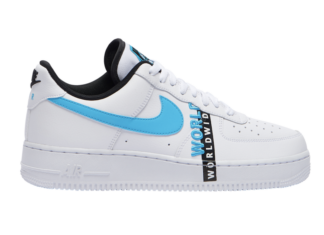 Nike Air Force 1 Worldwide White Blue Black CK6924-100