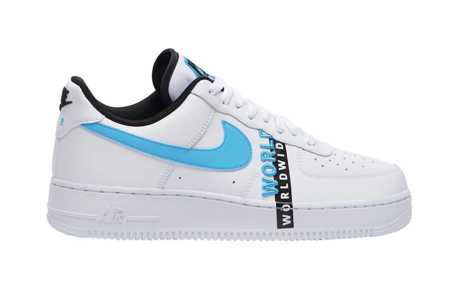 Nike Air Force 1 Worldwide White Blue Black Ck6924 100 Release