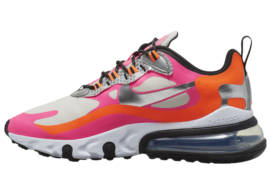 Nike Air Max 270 React White Orange Pink CT1834-100 Release Date Info