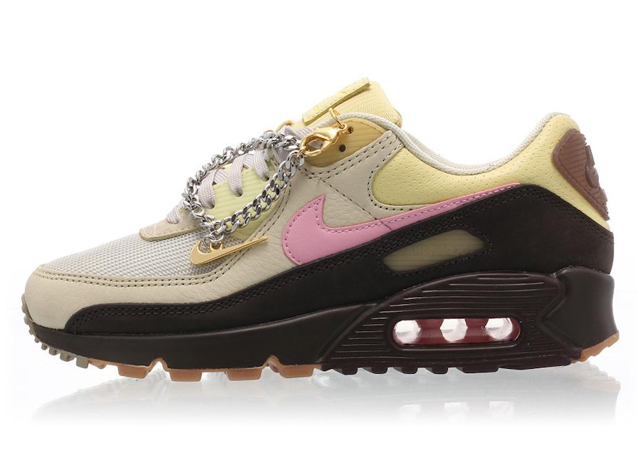 Nike Air Max 90 Cuban Link Velvet Brown CZ0469-200 Release Date Info