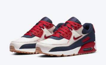 Nike Air Max 90 Home Away Sail University Red CJ0611-101 Release Date Info