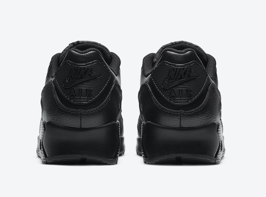 Nike Air Max 90 Leather Triple Black CZ5594-001 Release Date Info