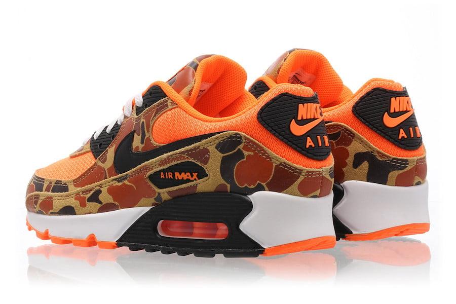 Nike Air Max 90 Orange Duck Camo CW4039-800 Release Date