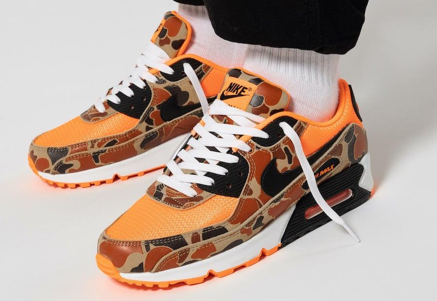 Nike Air Max 90 Orange Duck Camo CW4039-800