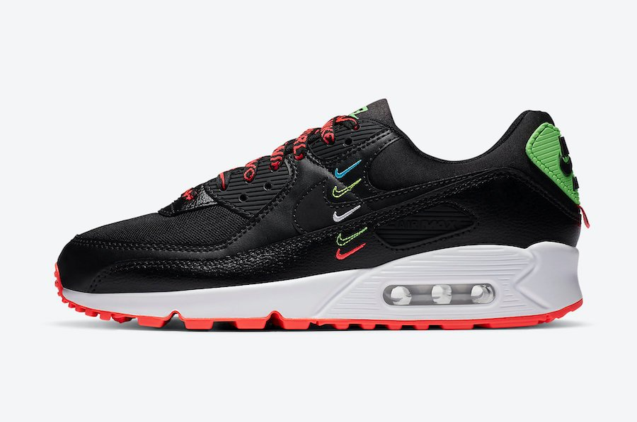 Nike Air Max 90 Worldwide Black Crimson CK7069-001 Release Date Info