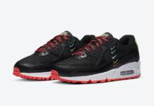 Nike Air Max 90 Worldwide Black Crimson CK7069-001 Release Date Info