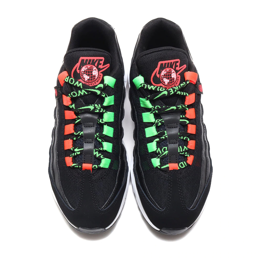 Nike Air Max 95 Worldwide Black Green Crimson CV9030-001 Release Date Info