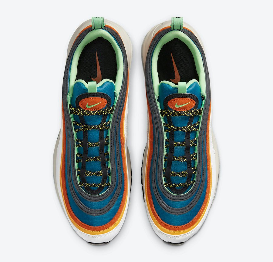 Nike Air Max 97 Blue Green Orange Yellow CZ7868-300 Release Date Info