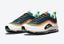 Nike Air Max 97 Blue Green Orange Yellow CZ7868-300 Release Date Info