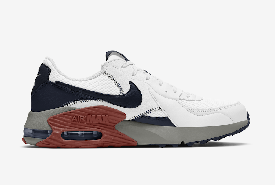 Nike Air Max Excee White Navy Brown Grey CD4165-106 Release Date Info