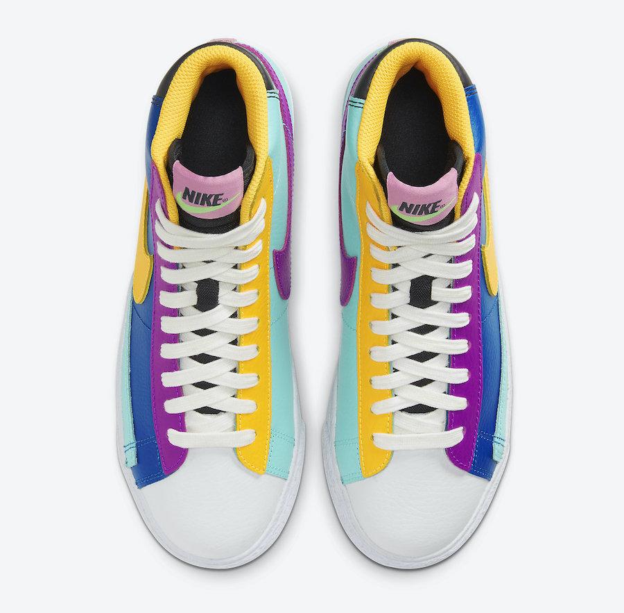 Nike Blazer Mid GS Multi-Color Battle Blue Aurora Vivid CZ9441-400 Release Date Info