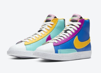 Nike Blazer Mid GS Multi-Color Battle Blue Aurora Vivid CZ9441-400 Release Date Info