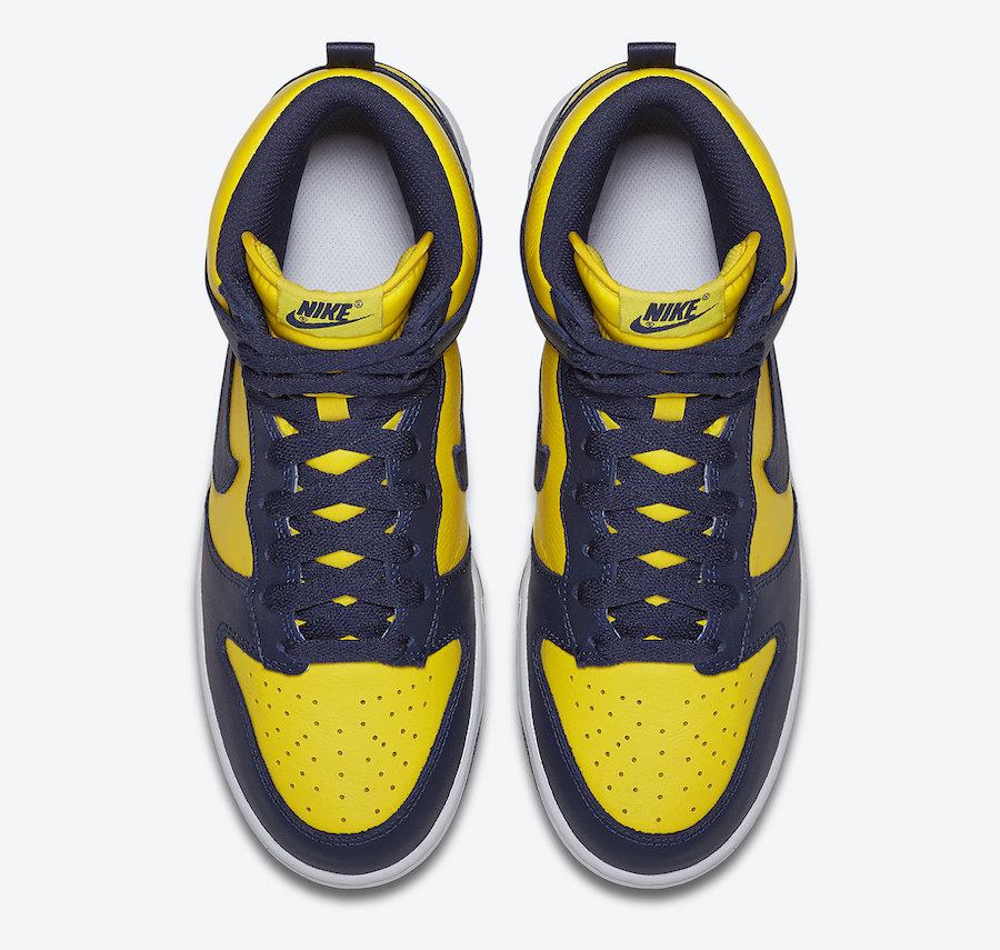 Nike Dunk High Michigan CZ8149-700 2020 Release Date Info